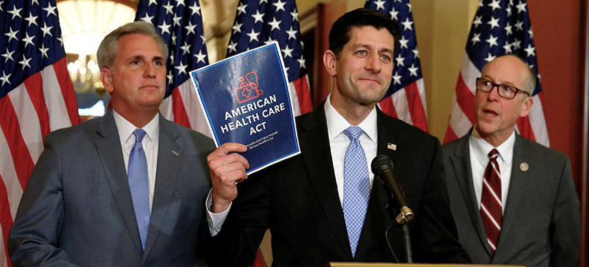 House Speaker Paul Ryan introduces the GOP health-care plan, March 7, 2017. (photo: Eric Thayer/Reuters)