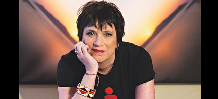 Author and playwright, Eve Ensler. (photo: Annabel Clark/Guardian UK)