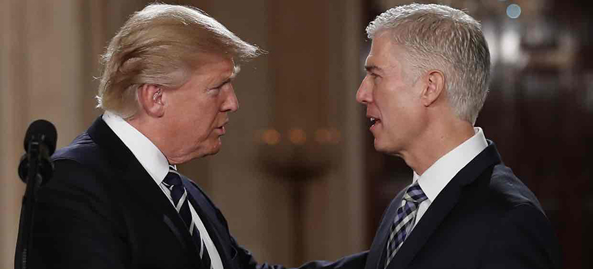 'Republican senators abandoned their constitutional responsibilities and blocked Judge Garland's nomination last year.' (photo: Carolyn Kaster/AP)