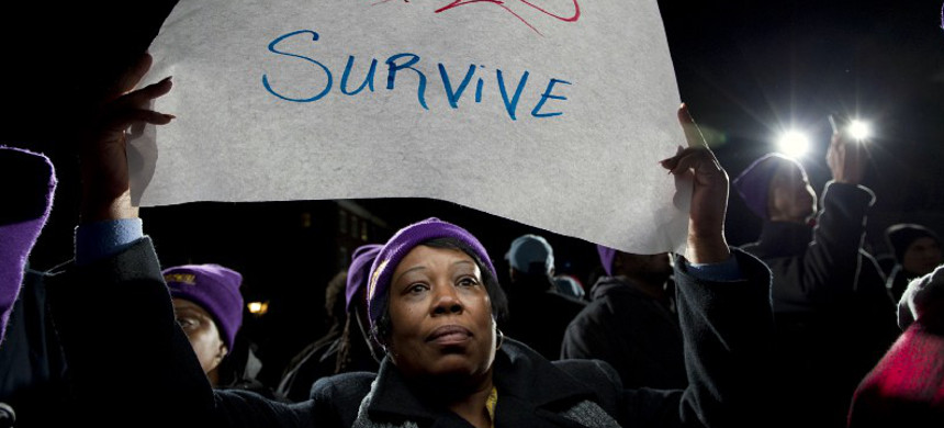 Darlene Handy of Baltimore at a rally in 2014. (photo: Jose Luis Magana/AP)