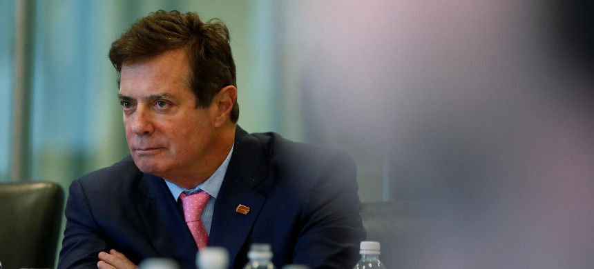 President's former campaign manager Paul Manafort at a discussion on security at Trump Tower, August 17, 2016. (photo: Carlo Allegri/Reuters)