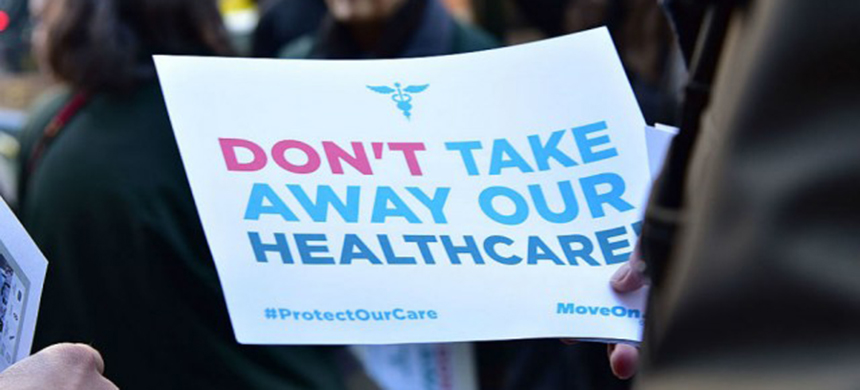 'Don't take away our health care.' (photo: Getty Images)