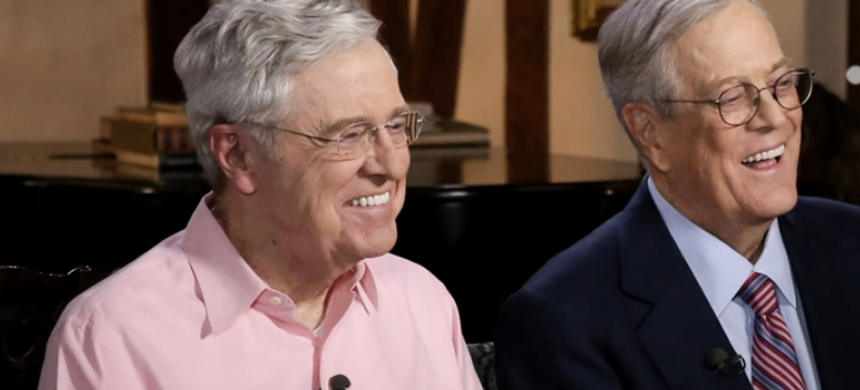 David and Charles Koch. (photo: Getty)