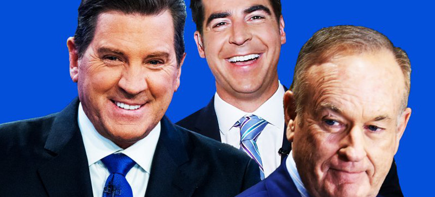 Fox News personalities Eric Bolling and Jesse Watters will get promoted in the wake of Bill O'Reilly's departure. (photo: Sarah Rogers/The Daily Beast)