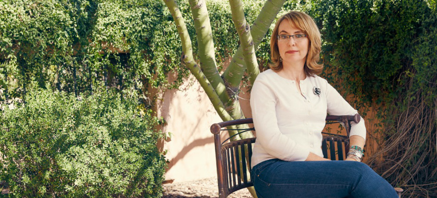 Former congresswoman Gabrielle Giffords. (photo: Brian Doben/Woman's Day)