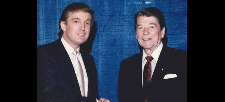 Donald Trump and President Ronald Reagan. (photo: AP)