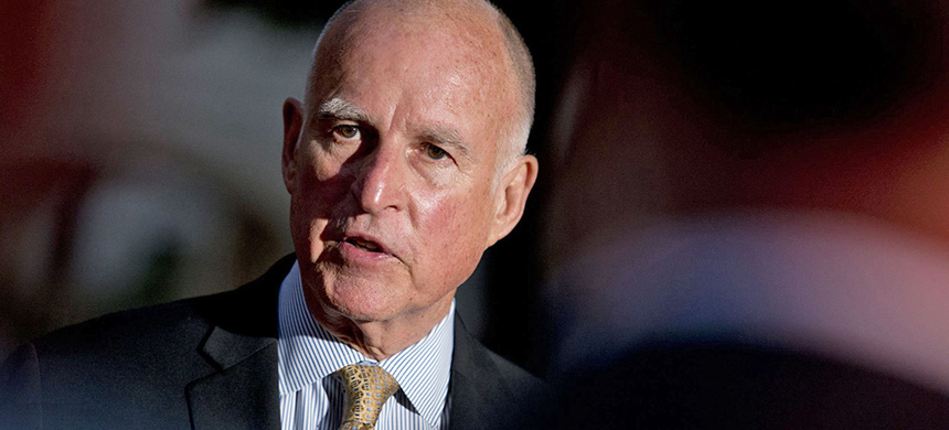 California governor Jerry Brown. (photo: LA Times)