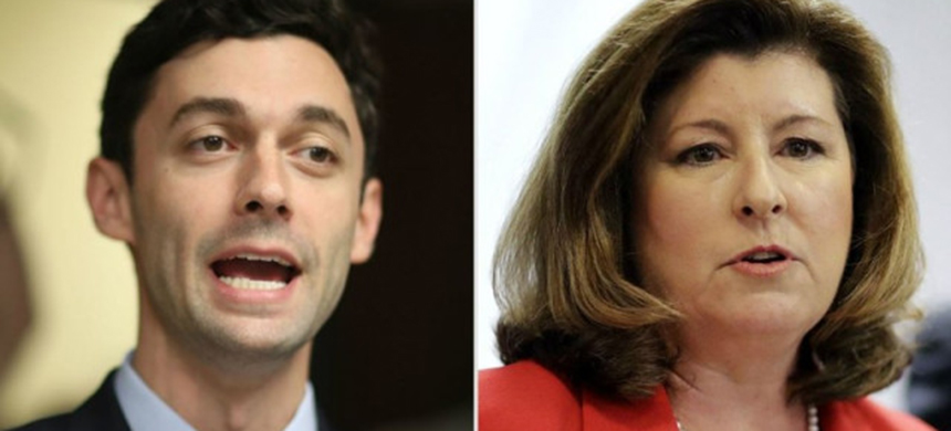 Jon Ossoff and Karen Handel. (photo: AJC)