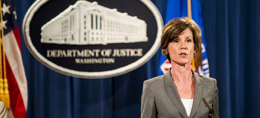 Then-deputy attorney general Sally Yates speaks during a news conference at the Department of Justice in Washington, D.C., in 2016. Yates is scheduled to appear before the House committee on May 8. (photo: Pete Marovich/Getty Images)