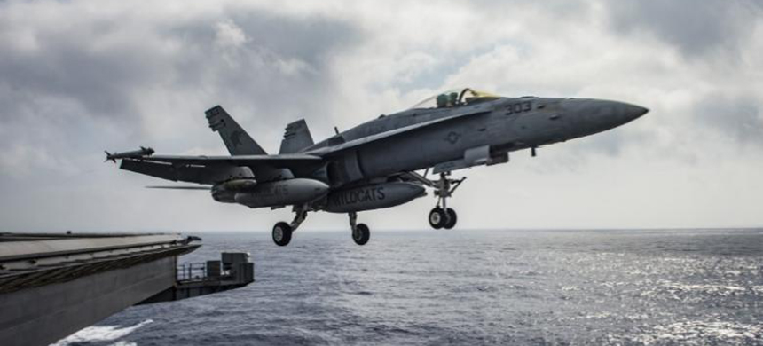 A U.S. Navy F/A-18E Super Hornet launches from the flight deck of the aircraft carrier USS Dwight D. Eisenhower (CVN 69) in the Mediterranean Sea, June 28, 2016. (photo: Ryan U. Kledzik/Reuters)