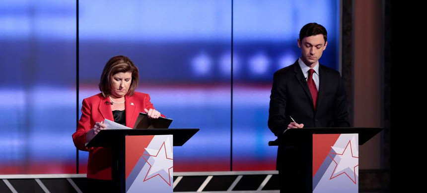 The two candidates for Georgia Special election in 6th district Karen Handel and Jon Ossoff. (photo: Christopher Aluka Berry/Reuters)