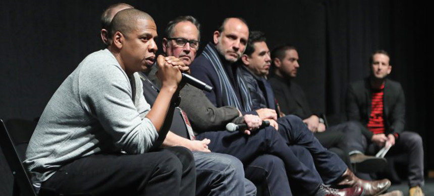 Jay Z speaks during a Q&A following the 'Time: The Kalief Browder Story' Sundance World Premiere, on January 25, 2017, in Park City, Utah. (photo: Neilson Barnard/Getty)