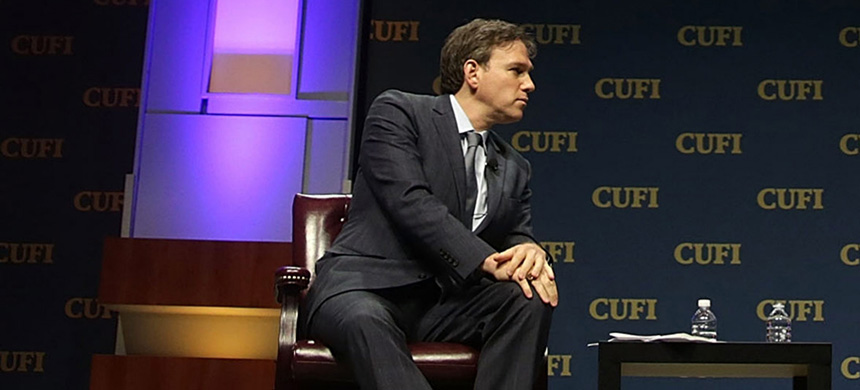 Bret Stephens, then still at the Wall Street Journal, during a Christians United for Israel summit, July 13, 2015, in Washington, D.C. (photo: Alex Wong/Getty Images)