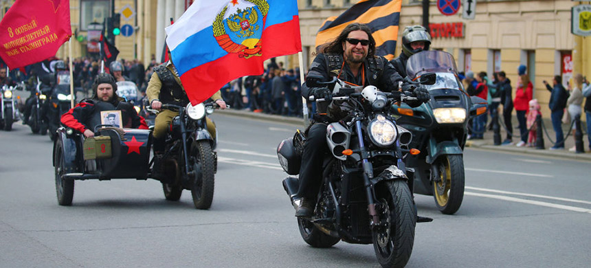 'So this Mangushev character starts a motorcycle gang among his fellow Russian expats that he names after the Russian equivalent of the special forces.' (photo: Getty Images)