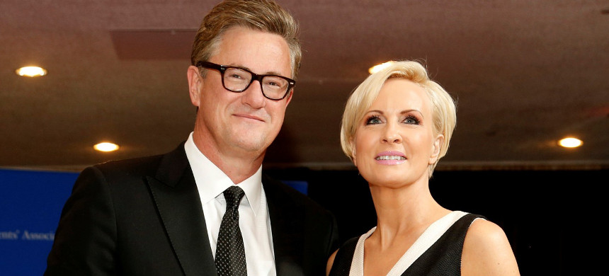 MSNBC's Joe Scarborough and Mika Brzezinski arrive for the annual White House Correspondents' Association dinner in Washington in 2015. (photo: Jonathan Ernst/Reuters)
