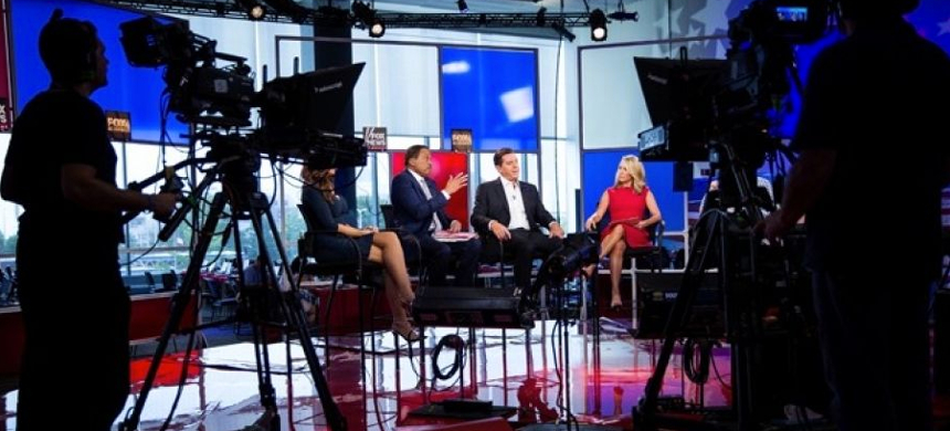 Behind the scenes of 'The Five' on Fox News. (photo: Fox News)