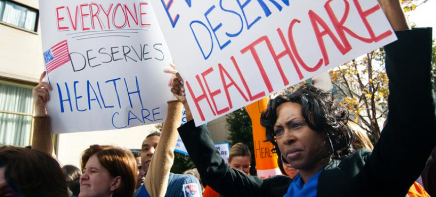 A health care rally. (photo: Health Care for All)