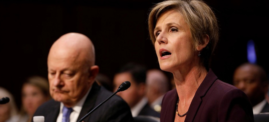 James Clapper and Sally Yates testify before a Senate panel on May 8, 2017. (photo: Aaron Bernstein/Reuters)