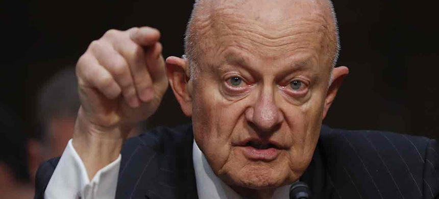 James Clapper testifies on Capitol Hill, during the Senate judiciary subcommittee hearing on Russian interference in the 2016 election. (photo: Pablo Martinez Monsivais/AP)