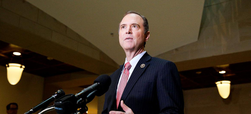 Even if Republicans won't act, Democrats, like House Intelligence Committee ranking member Adam Schiff, should make their intentions clear. (photo: Joshua Roberts/Reuters)