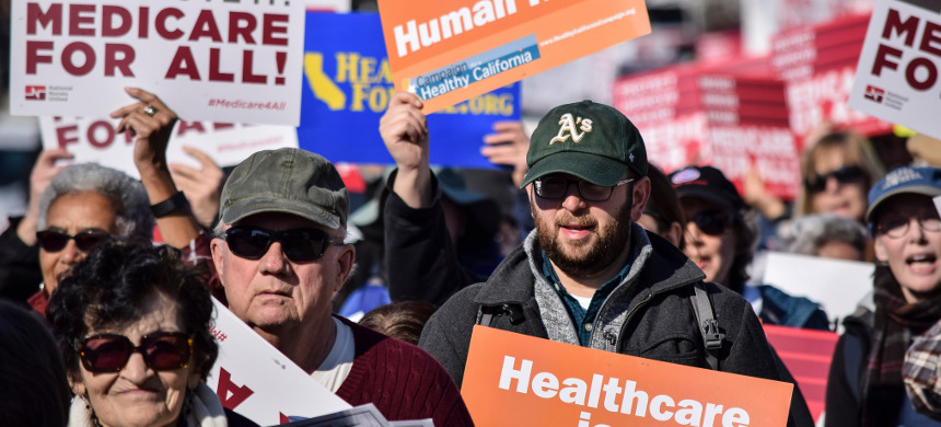 Rally for Medicare for All. (photo: AP)
