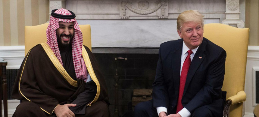 Donald Trump will prepare the Sunni Muslims of the Middle East, including Mohammad bin Salman, for war against the Shia Muslims. (photo: AFP/Getty)