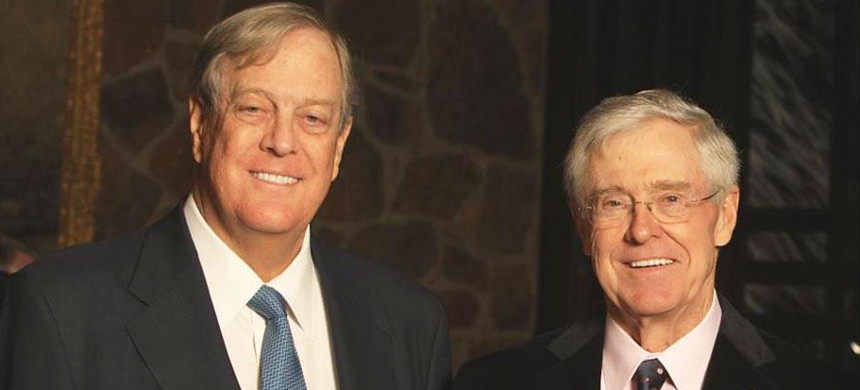David and Charles Koch. (photo: AP)