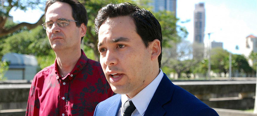 State Representative Chris Lee is leading a basic income charge in Hawaii. (photo: Cathy Bussewitz/AP)