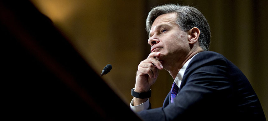 The questions directed at Christopher Wray, the nominee for FBI director, showed the continued reluctance of even the most Trump-averse GOP officials to publicly oppose the President. (photo: Andrew Harrer/Bloomberg/Getty Images)