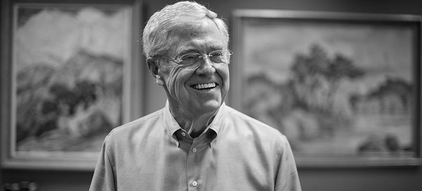 Charles Koch, 79, in his office at Koch Industries in Wichita, Kansas, on July 29, 2015. (photo: Nikki Kahn/WP/Getty Images)