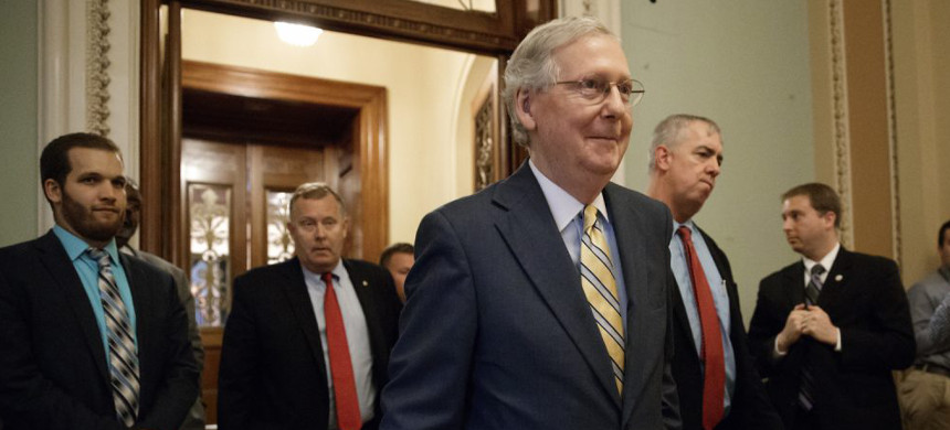 Senator Majority Leader Mitch McConnell. (photo: J. Scott Applewhite/AP)