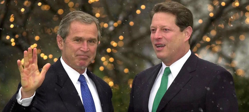 George W. Bush and Al Gore. (photo: Getty)