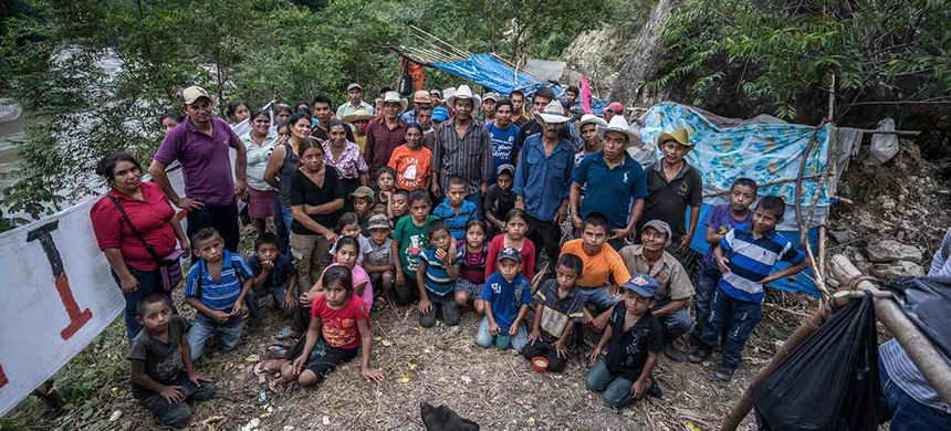 Members of Copinh, the organization headed by Berta Cáceres before she was killed. (photo: Giles Clarke/Global Witness)