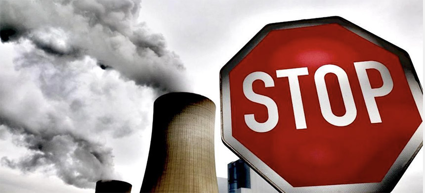 Stop fossil fuel emissions. (image: EcoWatch)