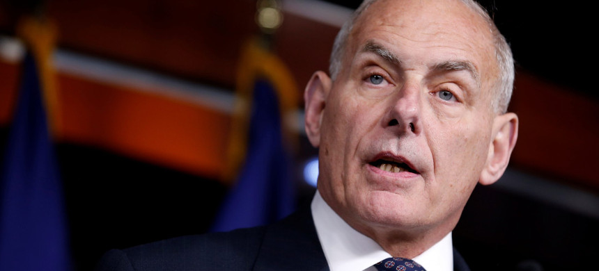 White House Chief of Staff John Kelly. (photo: Joshua Roberts/Reuters)