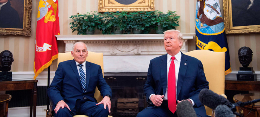 President Trump with his new Chief of Staff General John Kelly. (photo: Jim Watson/Getty)