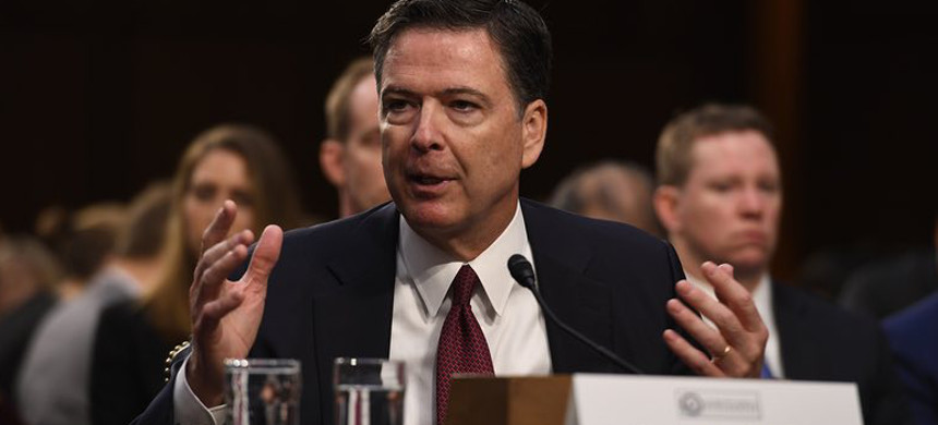 Former FBI director James Comey testifies in front of the Senate Intelligence Committee Thursday in Washington. (photo: DDP USA/Shutterstock)