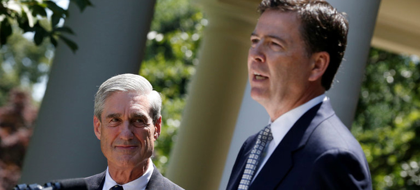 Robert S. Mueller III and James B. Comey at the White House in June 2013. (photo: Jason Reed/Reuters)