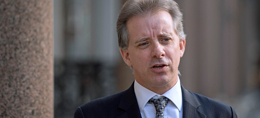 Former British intelligence officer Christopher Steele in London. The dossier contained explosive allegations about Trump and the Kremlin. (photo: Victoria Jones/PA)