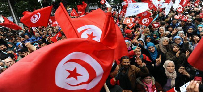 A rally in Tunisia. (photo: Fethi Belaid/AFP)