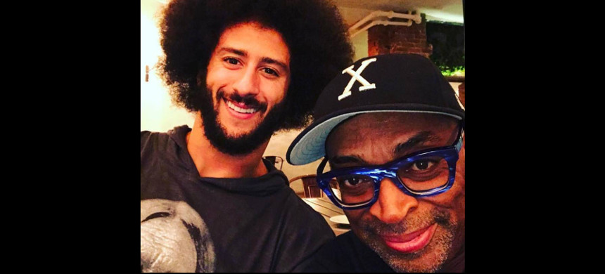 Director Spike Lee with NFL Quarterback Colin Kaepernick. (photo: Spike Lee's Facebook Page)