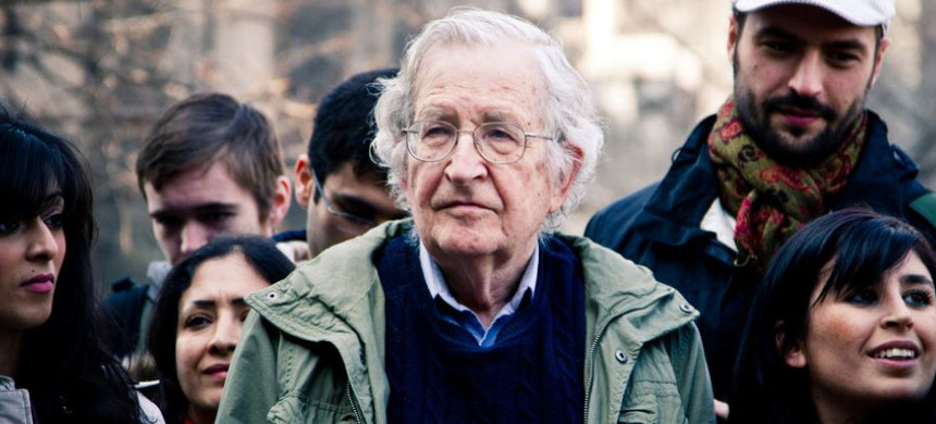 Noam Chomsky at an Occupy protest. (photo: Andrew Rusk/Flickr)