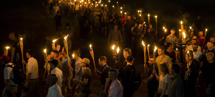 The Unite the Right march. (photo: Anadolu Agency/Getty Images)