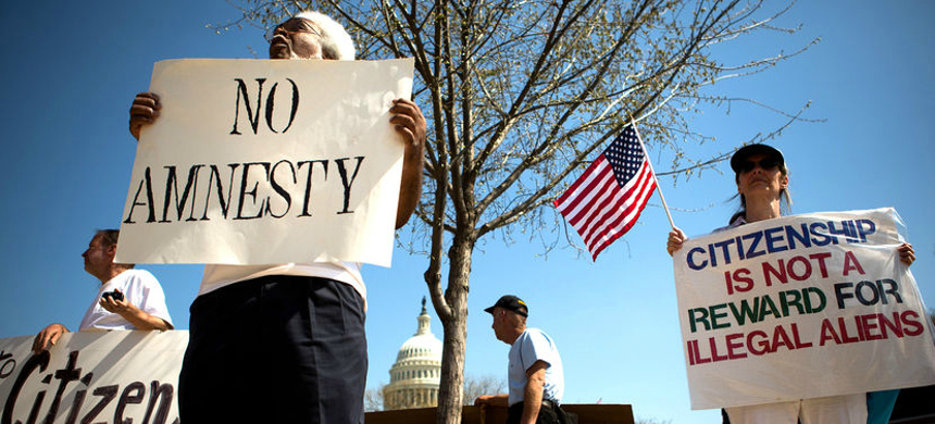An anti-immigrant rally in Washington, D.C. (photo: Allison Shelley/Getty Images)
