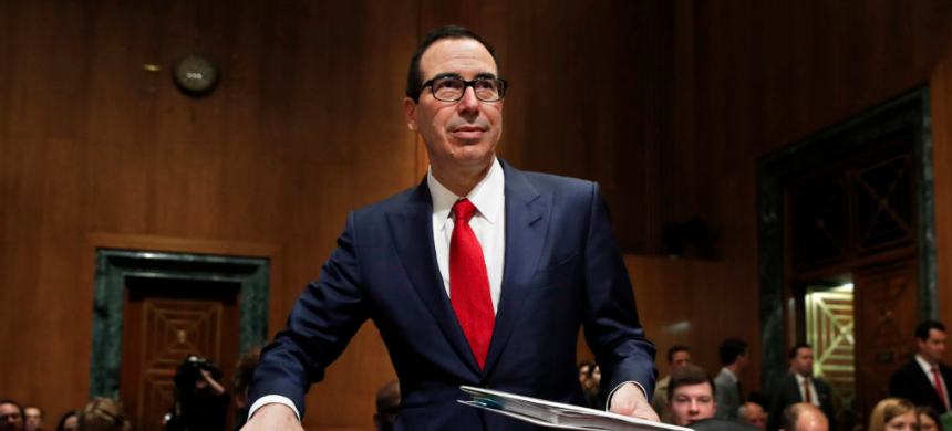 Steve Mnuchin, Treasury Secretary in the Trump administration. Thousands of homes were foreclosed on under the leadership of Mnuchin, who was nicknamed the