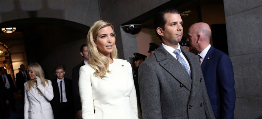 The Trump siblings, plus Eric and Tiffany. (photo: Win McNamee/Getty Images)