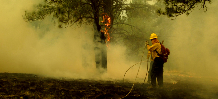 Among those battling blazes are 3,800 inmates, both men and women, who make up 13 percent of California's firefighting force. (photo: Flickr)