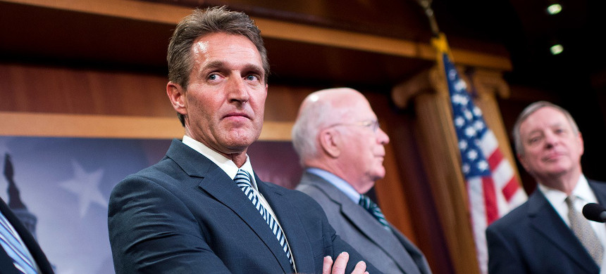 Sen. Jeff Flake. (photo: Tom Williams/Getty)
