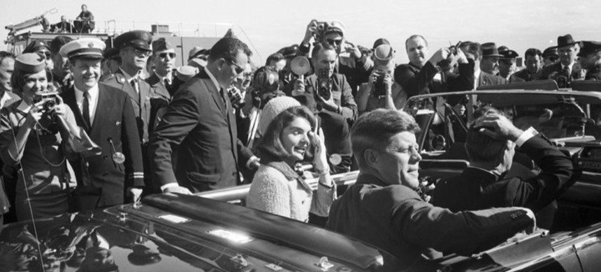 President Kennedy in Dallas on November 22, 1963. (photo: Getty)