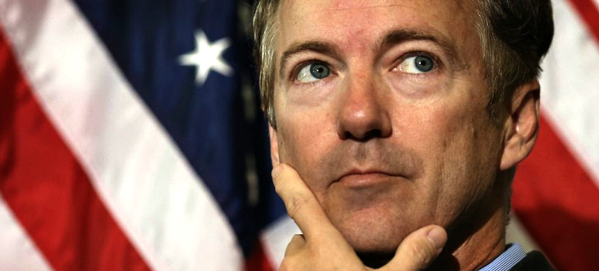 Senator Rand Paul (R-KY) similarly told NBC's Chuck Todd on Sunday's Meet the Press that he thought America had 'over-criminalized campaign finance.' (photo: Getty Images)